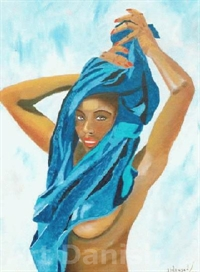 Blue Lady oilpainting on canvas